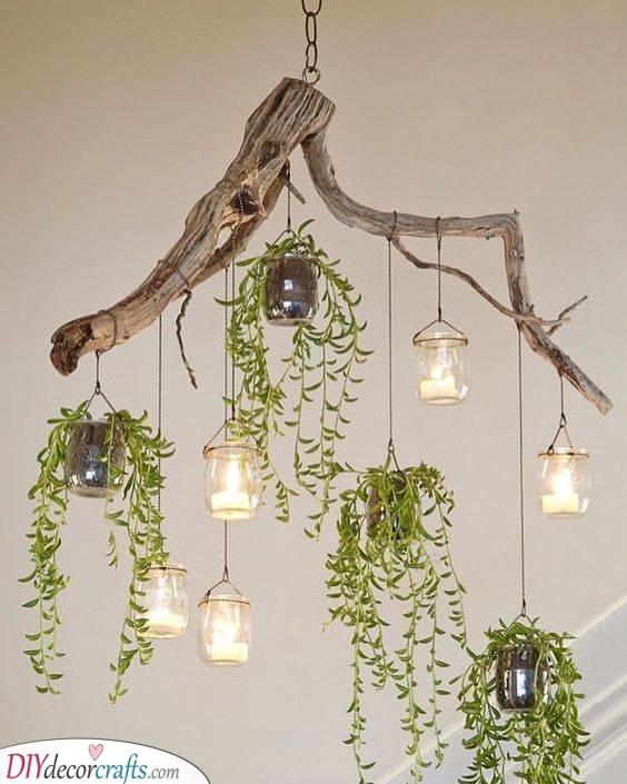 A Driftwood Chandelier - Best Lighting for Bedroom