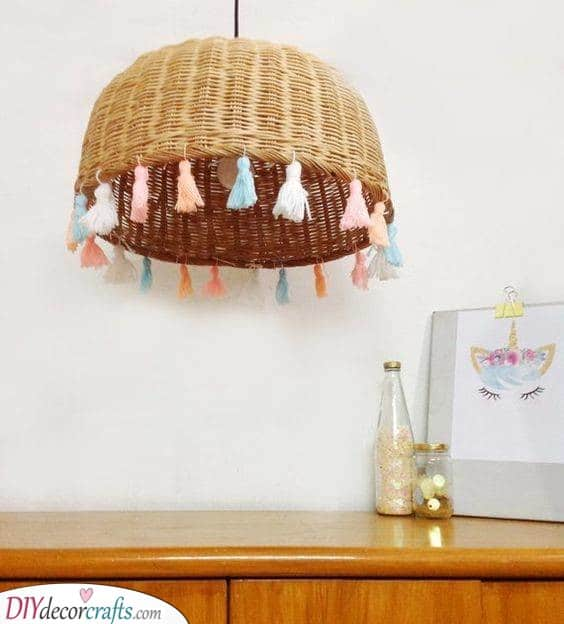 A Handwoven Rattan Basket - Bohemian and Funky