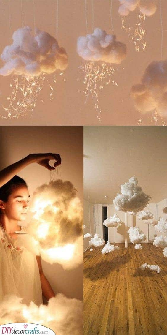 Fluffy Cotton Clouds - Decorative Lights for Bedroom