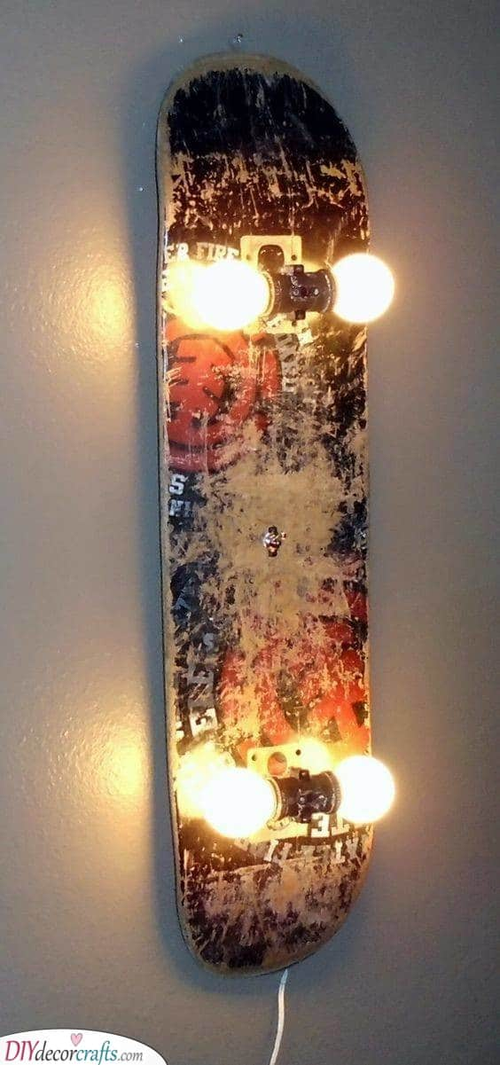 A Cool Skateboard - Illuminate Your Bedroom