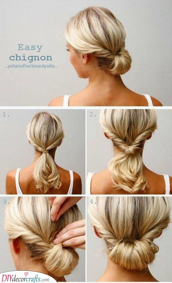 A Simple Chignon - A Flawless Look