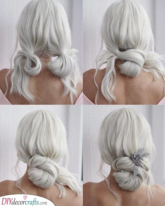 Pretty and Simple - Easy Updos for Long Hair Step by Step