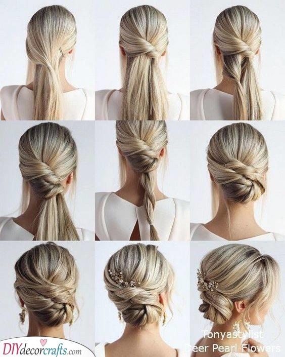Exuding Elegance - An Updo for Long Hair