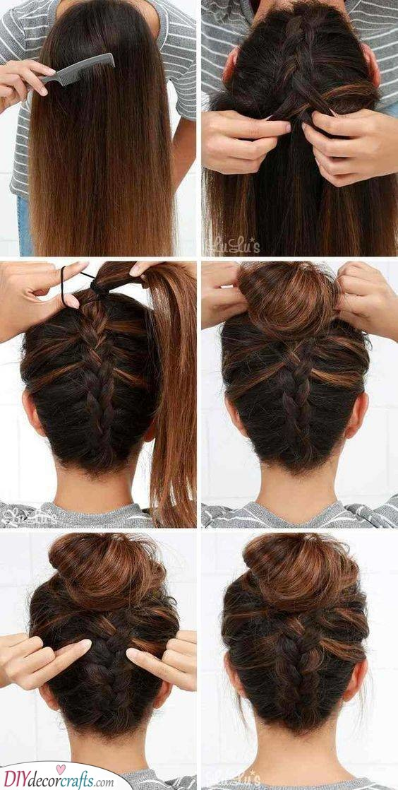 Upside Down - Another Braided Bun