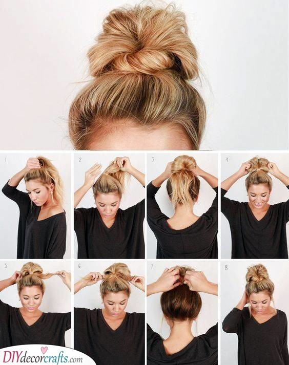 A Messy Bun - Stylish and Effortless