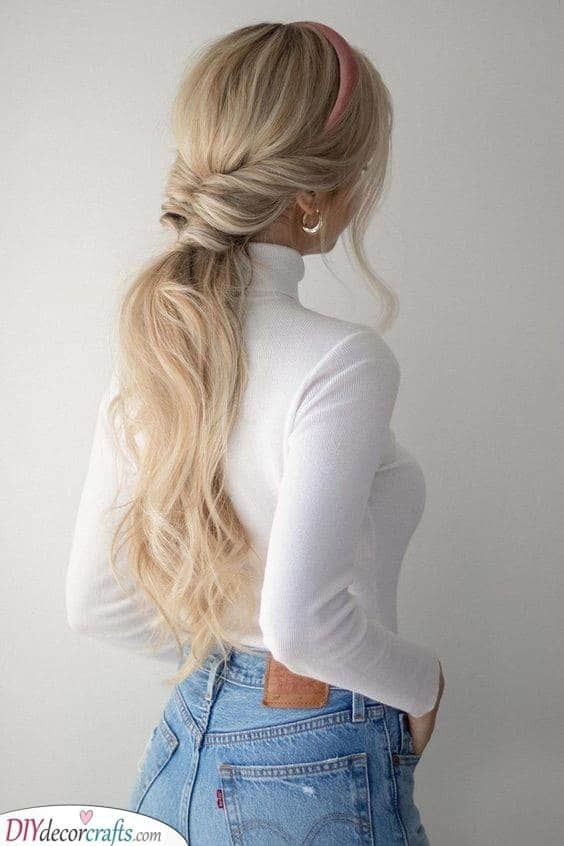 For Autumn Days - Simple Updos for Long Hair