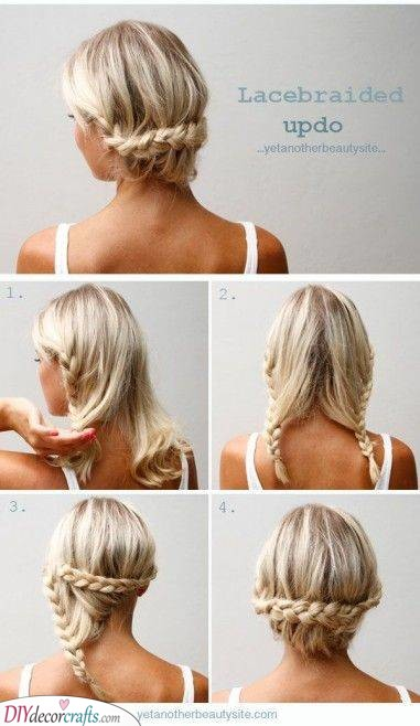 Lovely and Elegant - A Lacebraided Updo for Long Hair