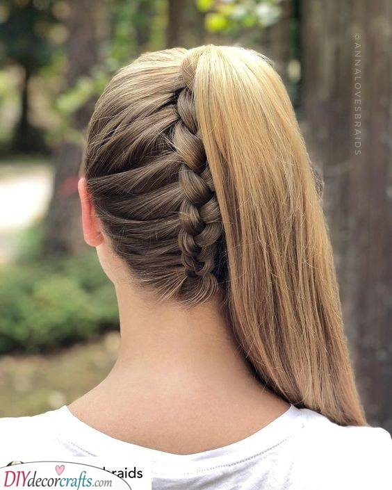 An Upside Down Braid - Turned into a Ponytail