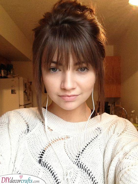 Adding Adorable Bangs - Shoulder Length Hairstyles for Teens