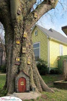 In the Base of a Tree - Fairy Garden Houses