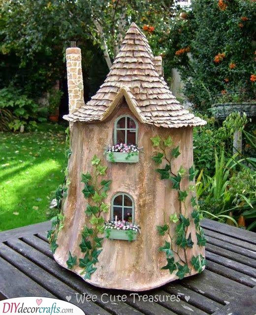 One with Nature - DIY Tree Stump Fairy House