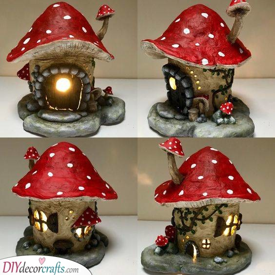 A Magical Mushroom - Created from Clay