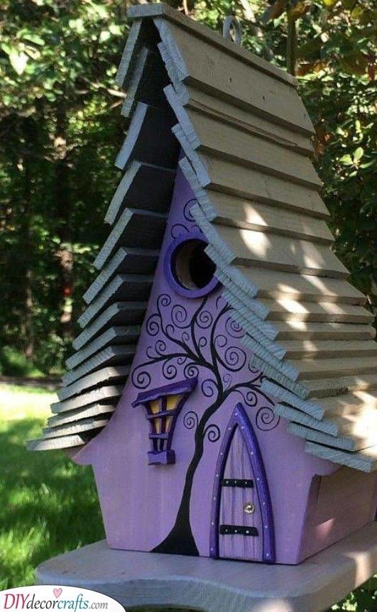 Pretty in Purple - Perfect as a Birdhouse