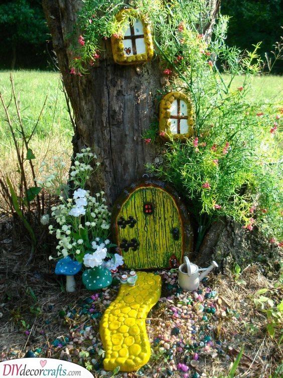 Enchanted and Magical - DIY Tree Stump Fairy House