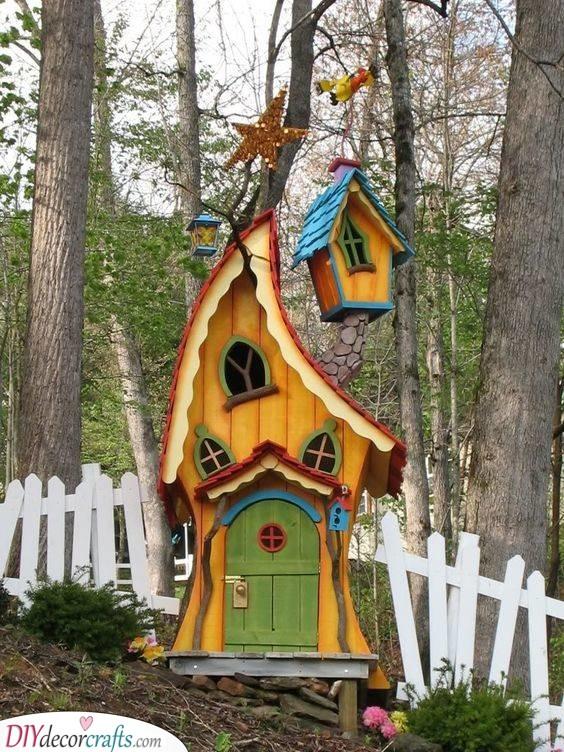 A Whimsical Vibe - Fairy Garden Houses