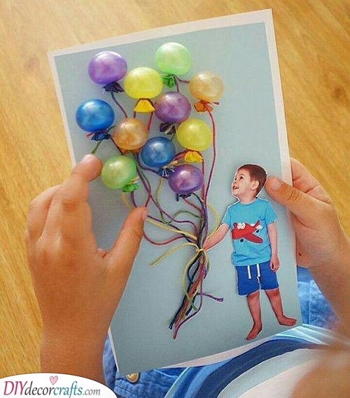 A Brilliant Card - With Funky Balloons