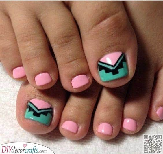 Tribal and Wild - Summer Pedicure Ideas