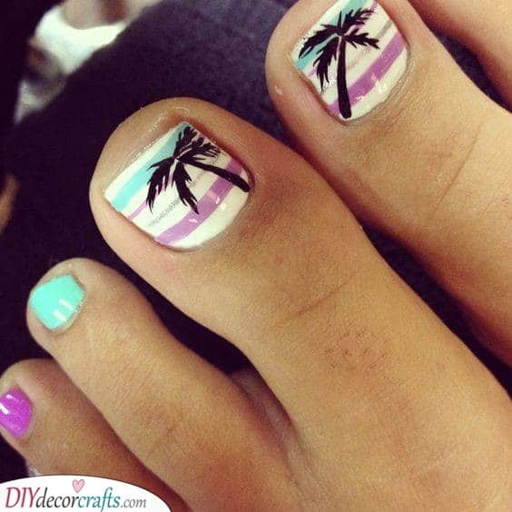 Stripes and Palm Trees - Summer Vibes