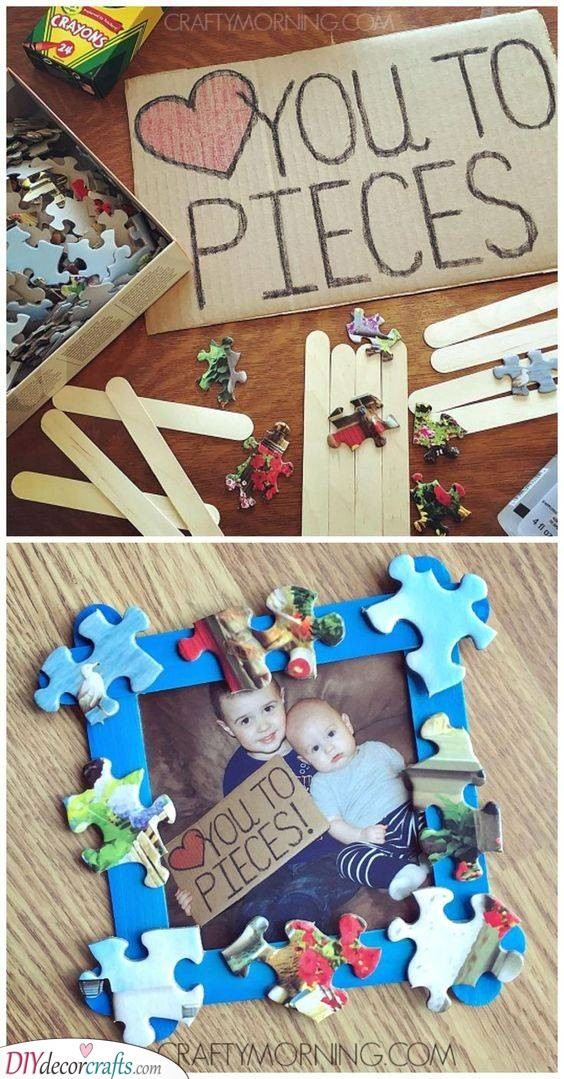 Love You to Pieces - Cute Crafts for Dad