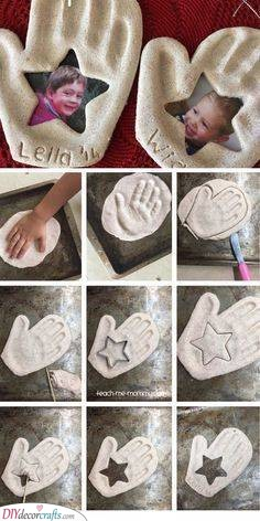Salt Dough Crafts - Homemade Fathers Day Gifts