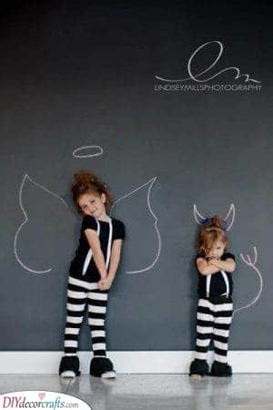 Daddy's Angel and Devil - Unique Photos