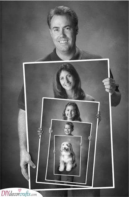 A Family Photo - DIY Father's Day Gift Ideas
