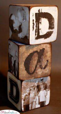 Wooden Blocks - With Photos on Them