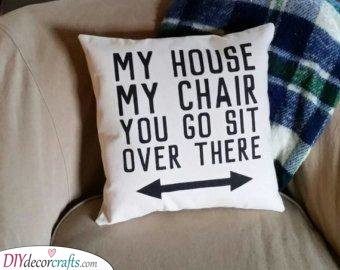A Funny Pillowcase - DIY Father's Day Gift Ideas