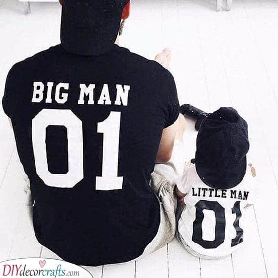 Big Man and Little Man - Matching Shirts