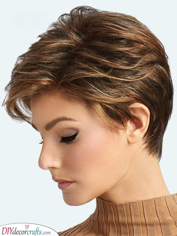 Brunette - Short Hairstyles for Thin Hair Over 50