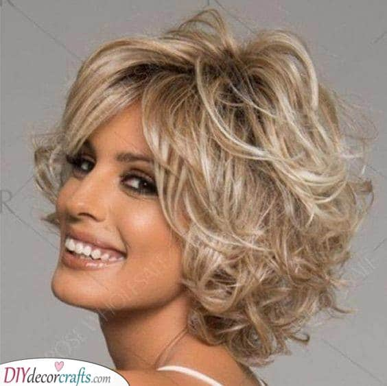 Curly Fun - Short Hairstyles for Women Over 50 with Fine Hair