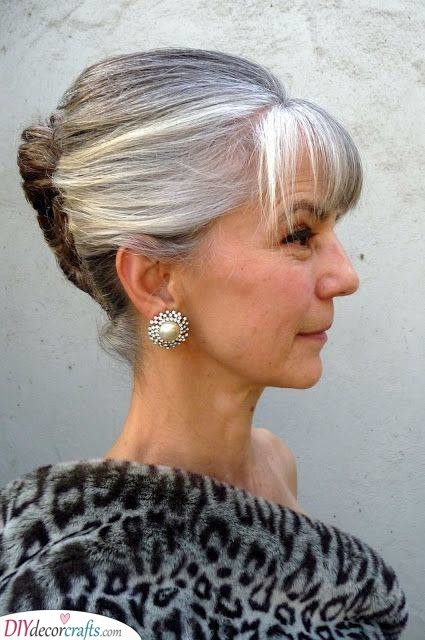 A Twist - Short Hairstyles for Women Over 50 with Thin Hair