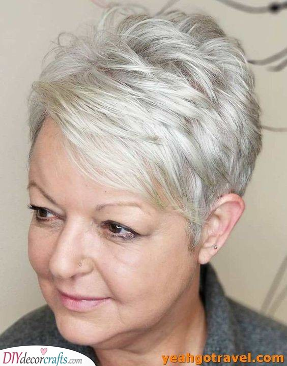 Parted at the Side - A Pixie Cut