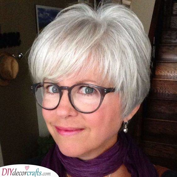 Modern Fun - Short Hairstyles for Women Over 50 with Fine Hair