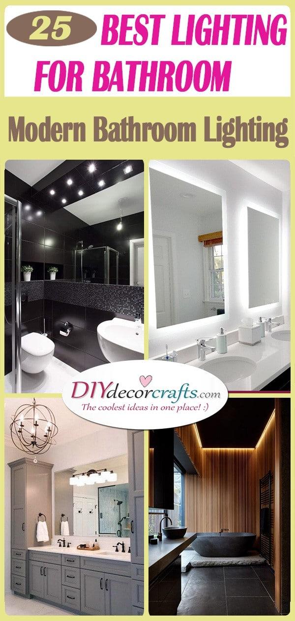 25 BEST LIGHTING FOR BATHROOM - Modern Bathroom Lighting