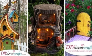 30 FAIRY GARDEN HOUSES - DIY Tree Stump Fairy House