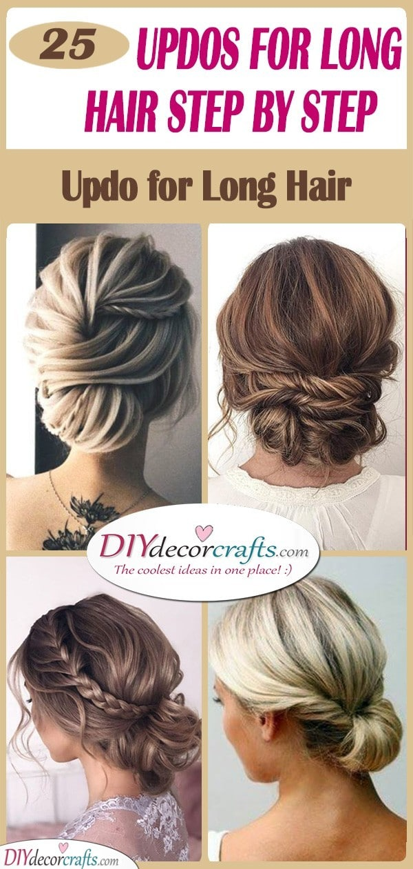 Easy Updos For Long Hair Step By Step Updo For Long Hair
