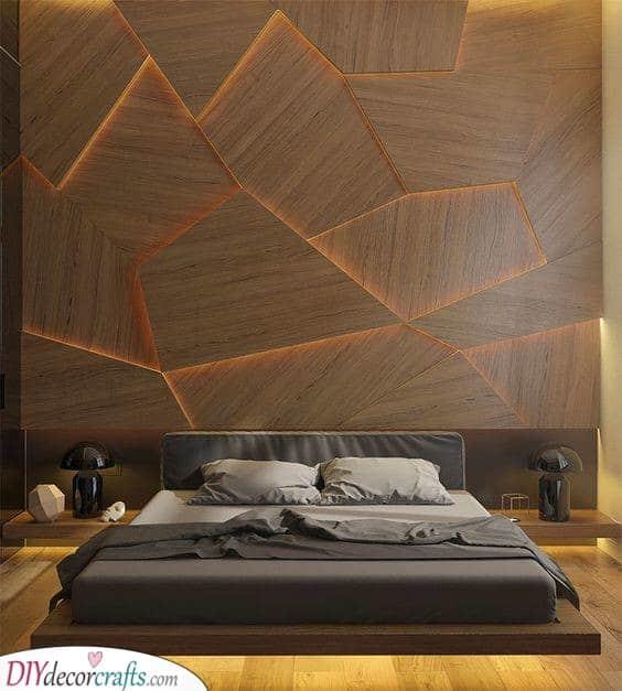 A Back Lit Wall - Decorative Lights for Bedroom