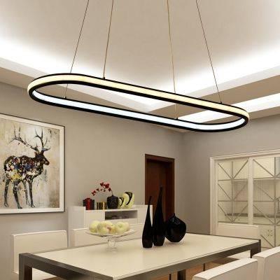 A Led Oval - Hanging Lights for Kitchen Islands