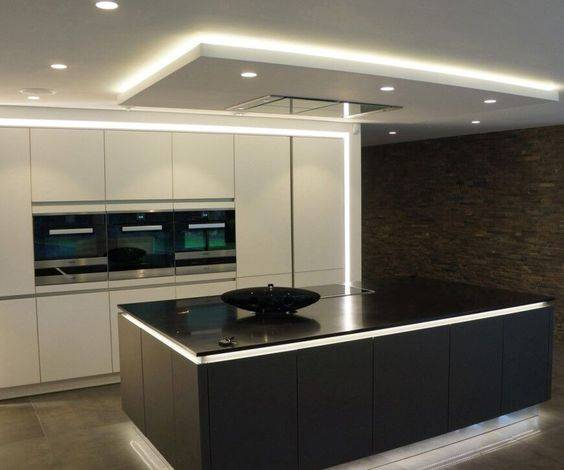 Surrounded in Light - Modern Kitchen Island Lighting