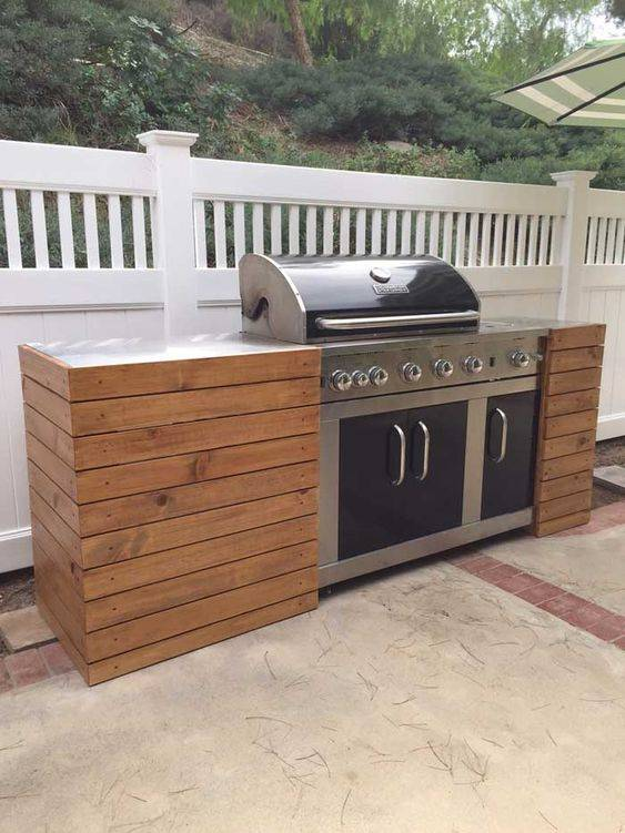 A Kitchen Island - Grill and Oven