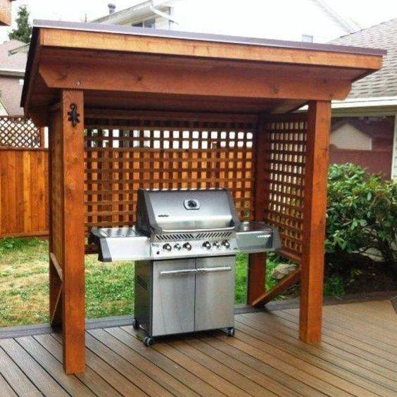 Building a Shelter - Outdoor BBQ Area Ideas