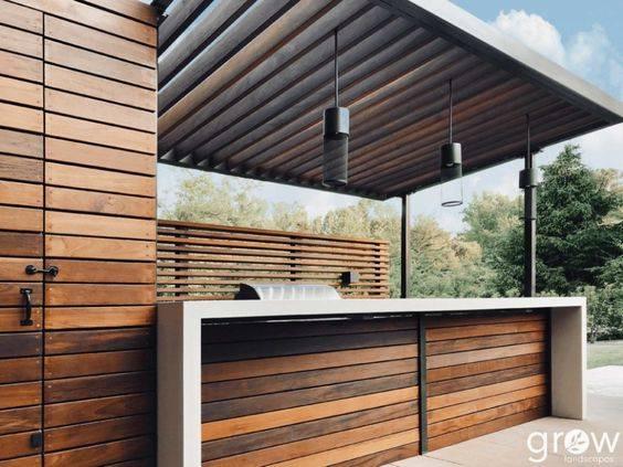 Wonderful in Wood - Outdoor BBQ Area Ideas