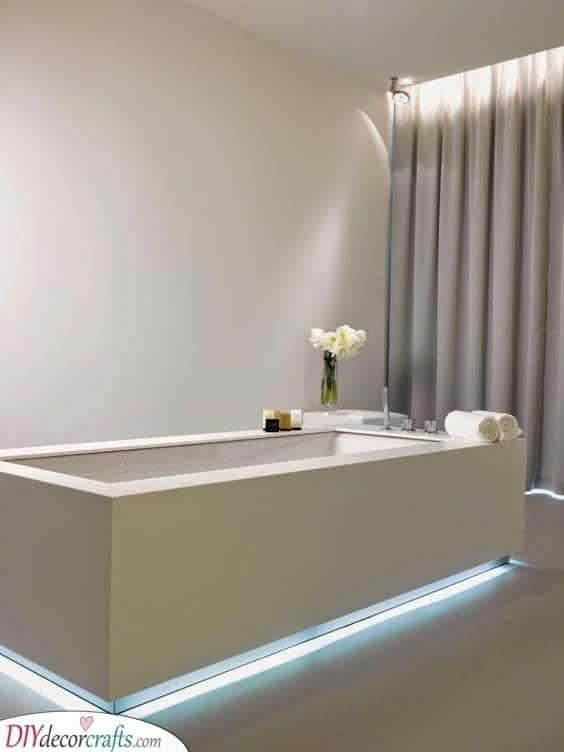 Under the Bath - Best Lighting for Bathroom