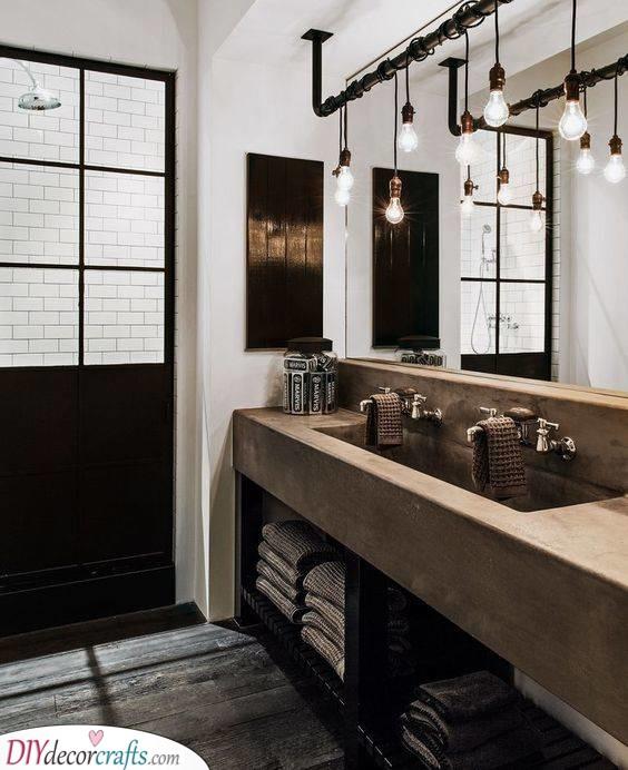 Innovative in Industrial - Best Lighting for Your Bathroom