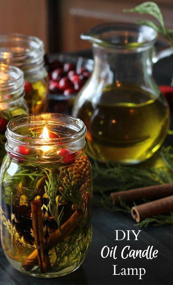 An Oil Candle - Mason Jar Craft Ideas