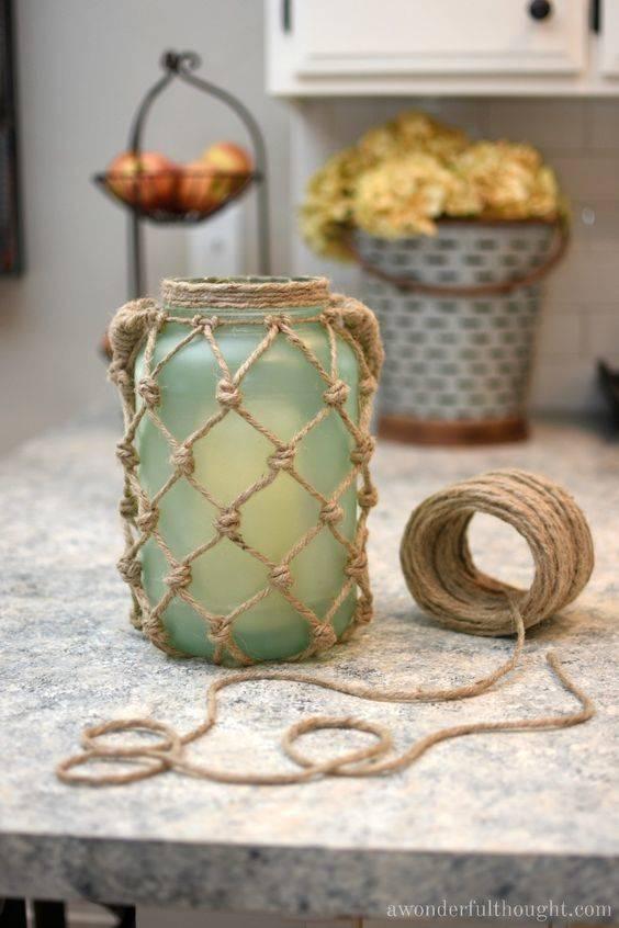 Fantastic Seaside Ambience - Sea Glass Rope Lantern