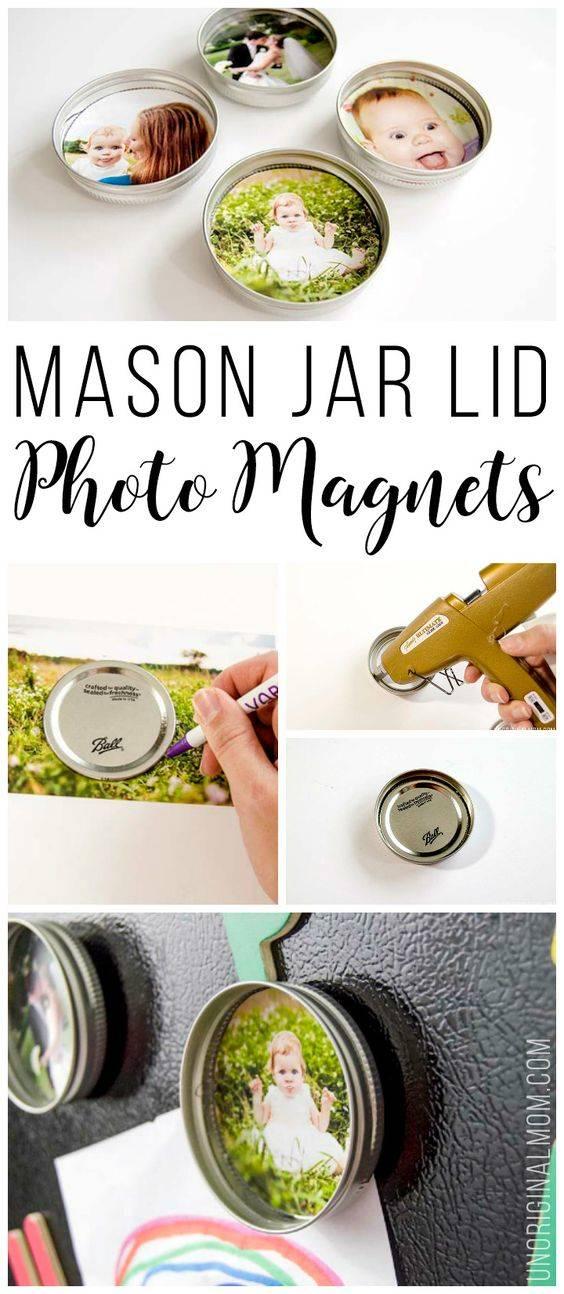 Adorable Magnets - Handmade Mason Jar Decoration Ideas