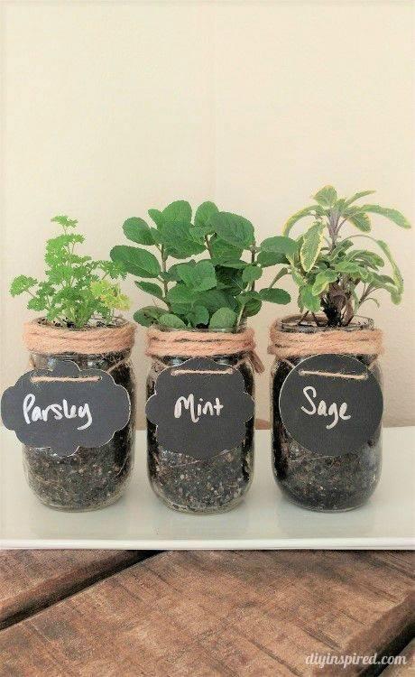 Planting Your Herbs - Mason Jar Crafts