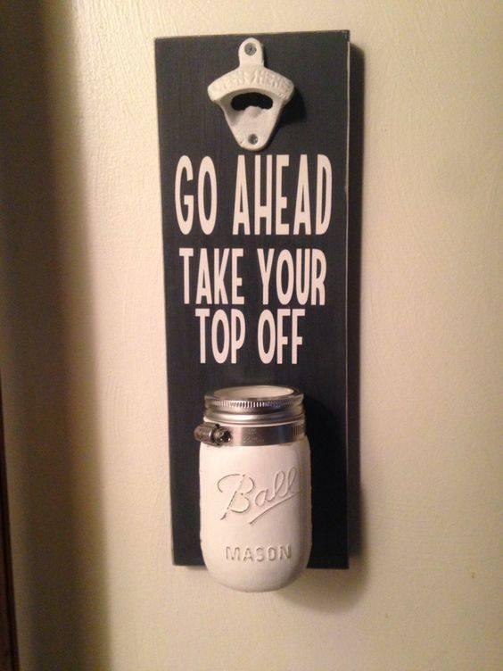 Beer Bottle Holder - DIY Mason Jar Decoration Ideas